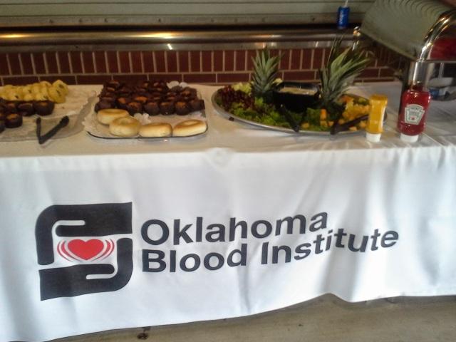 food at blood drive