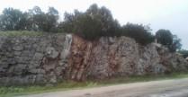 road cut through the rock
