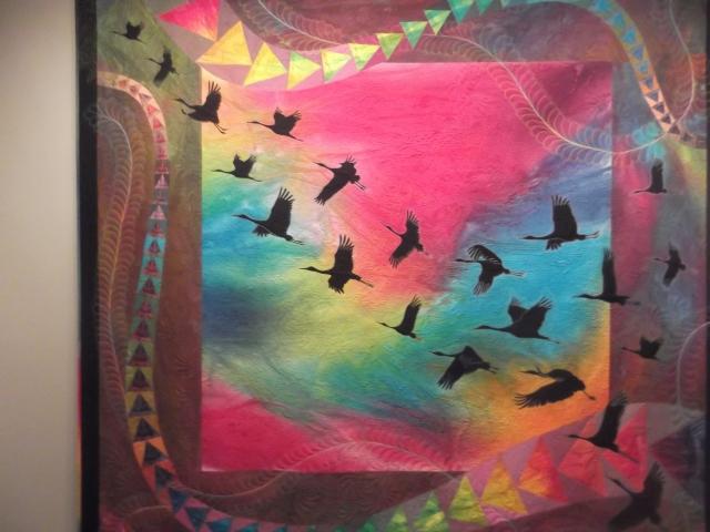 Geese in flight quilt