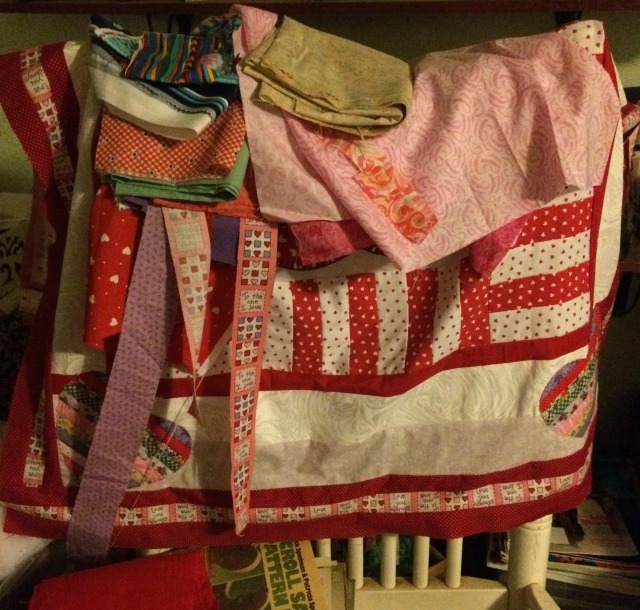 rocking chair fabric holder