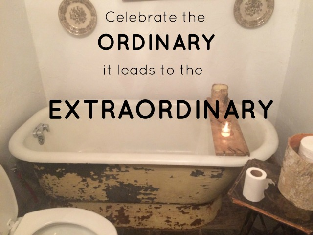 celebrate the ordinary with bathtub