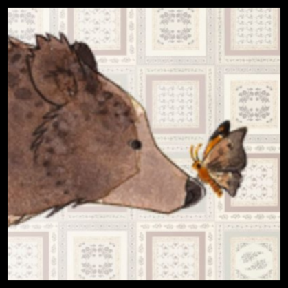 bear and butterfly banner.