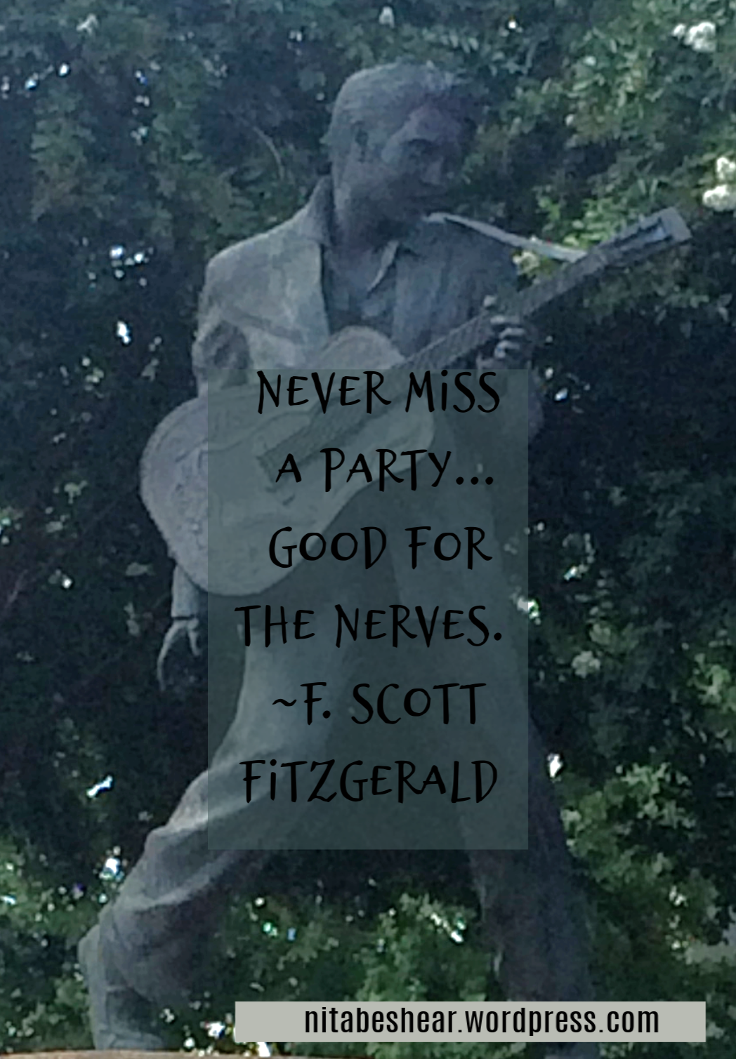 Elvis Statue and quote 2018