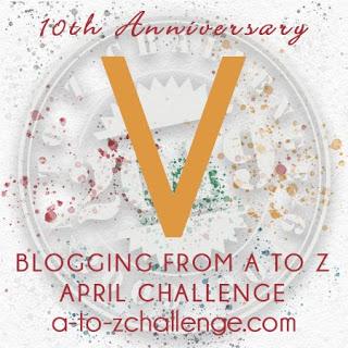 A to Z letter V